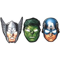 Máscaras Hulk Thor Capitão América Homem de Ferro  Os Vingadores