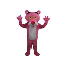 Mascote Pantera Cor-de-Rosa Luxo