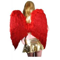 Asa Anjo Vermelha Adulto Luxo