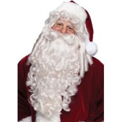 Barba Bigode e Peruca do Papai Noel Natal Luxo