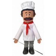 Boneco Fantoche Ventríloquo Chefe de Cozinha Luxo