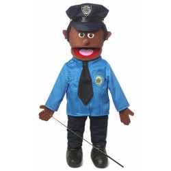 Boneco Fantoche Ventríloquo Policial Bill Luxo
