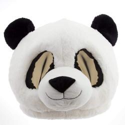 Cabeça Capacete Máscara Panda Pelúcia Luxo