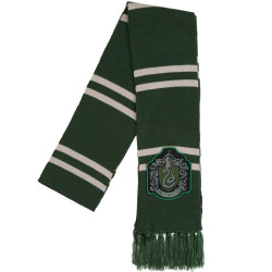 Cachecol Hogwarts Slytherin Luxo Harry Potter