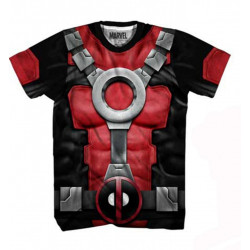 Camiseta Deadpool Adulto Atlética