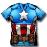 Camiseta do Capitão América Infantil
