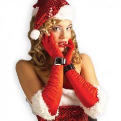 Chapéu de Lantejoulas Adulto de Papai Noel Natal