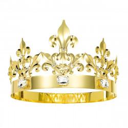 Coroa de Rei Dourada Clássica