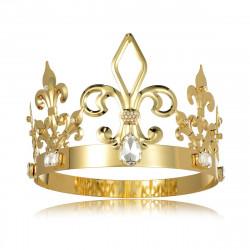Coroa de Rei Luxo Dourada