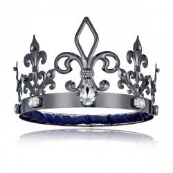 Coroa de Rei Luxo Prata Escura