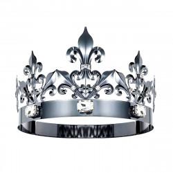 Coroa de Rei Luxo Prata Escurecida
