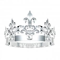 Coroa de Rei Prata Clássica