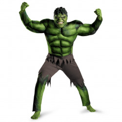 Fantasia Adulto Incrível Hulk com Músculo Luxo