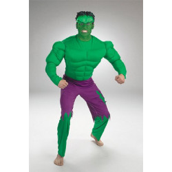 Fantasia Adulto Incrível Hulk com Músculo Luxo clássica