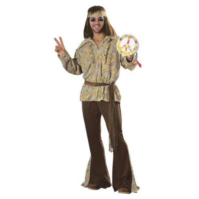 d10491a971d3e7 Fantasia Adulto Masculina Hippie Anos 70
