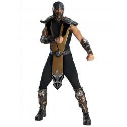 Fantasia Adulto Masculina Scorpion Mortal Kombat