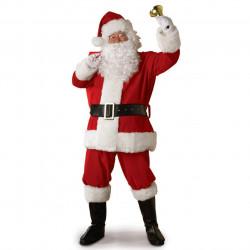 Fantasia Adulto Masculino Papai Noel Natal Clássica