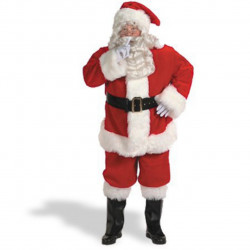 Fantasia Adulto Masculino Papai Noel Natal Luxo