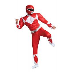 Fantasia Adulto Power Rangers Vermelho Luxo Novo