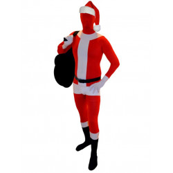 Fantasia Adulto Spandex Papai Noel