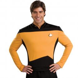 Fantasia Adulto Star Trek Amarelo Nova Geração