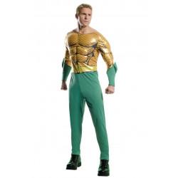 Fantasia Aquaman Adulto Luxo