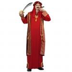 Fantasia Arabe Sheik Adulto Luxo Vermelha
