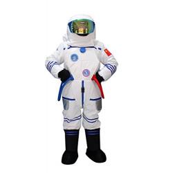 Fantasia Astronauta do Espaço Adulto Mascote Branco