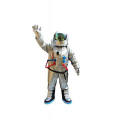 Fantasia Astronauta do Espaço Adulto Mascote Prata