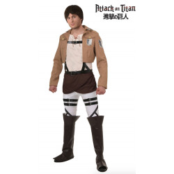 Fantasia Attack on Titan Eren Adulto Luxo