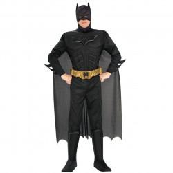 Fantasia Batman Dark Knight Adulto com músculos Extra Luxo