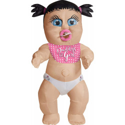 Fantasia Bebê Inflável Adulto Luxo Garota
