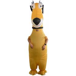 Fantasia Cachorro Amarelo Inflável Adulto
