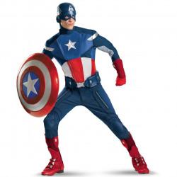 Fantasia Capitão América Adulto Os Vingadores Elite Luxo