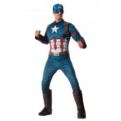 Fantasia Capitão América Guerra Civil Adulto Luxo