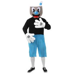 Fantasia Cuphead Mugman Adulto Azul