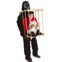 Fantasia de Gorila Carregando uma Jaula