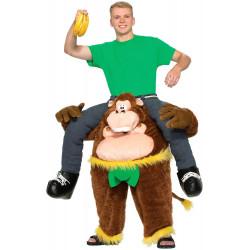 Fantasia de Montar Gorila Me Carregando Adulto