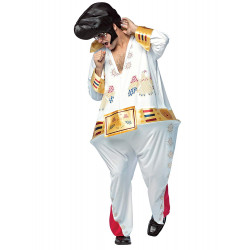 Fantasia Elvis Presley Adulto Luxo Inflável