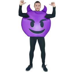 Fantasia Emoji Demônio Adulto Luxo