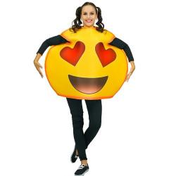 Fantasia Emoji Love Amor Adulto Luxo