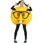 Fantasia Emoji Óculos Adulto Luxo