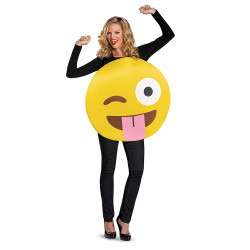 Fantasia Emoji Piscando Adulto