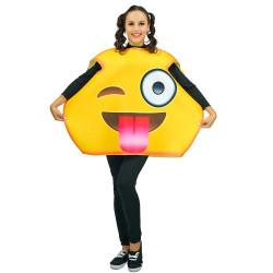 Fantasia Emoji Piscando Adulto Luxo