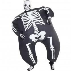 Fantasia Esqueleto Inflável Adulto Luxo
