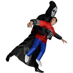 Fantasia Esqueleto Morte Te Carregando Inflável Adulto