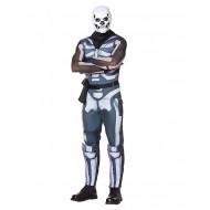 Fantasia Fortnite Skin Skull Trooper Aduto Luxo
