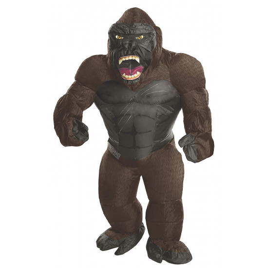 Fantasia Gorila King Kong Inflável Adulto