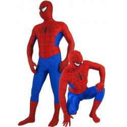 Fantasia Homem Aranha Adulto Spandex Vermelho e Azul 3