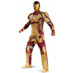 Fantasia Homem de Ferro 3 Mark 42 com Músculos Luxo Adulto
